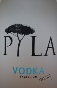 Zoom sur le logo de Vodka Pyla
