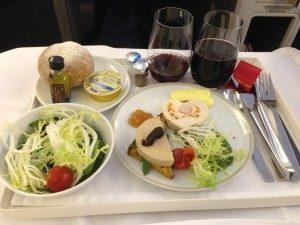 Plateau Air France et sélection de vin