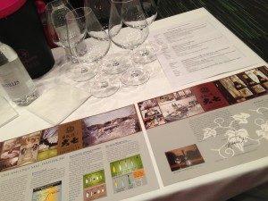 Dégustation de sakés à Vinexpo