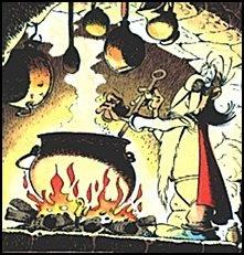 Astérix et Obélix avec la potion magique
