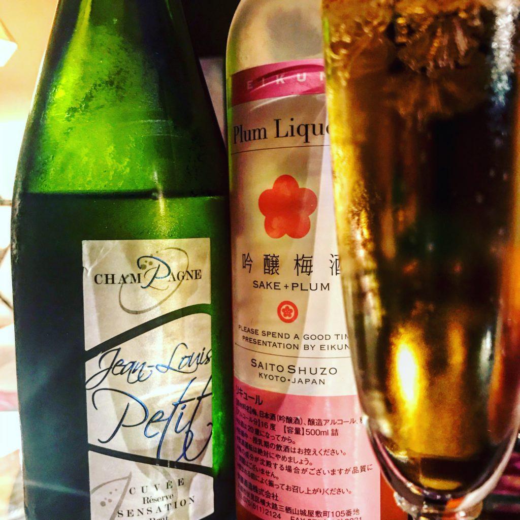 Ume et champagne